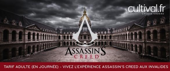 L'expérience Assassin's Creed aux Invalides (journée) - Adulte