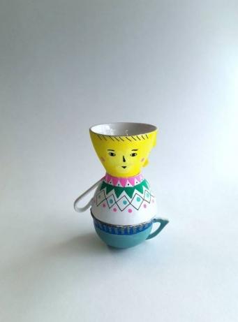 Totem de porcelaine