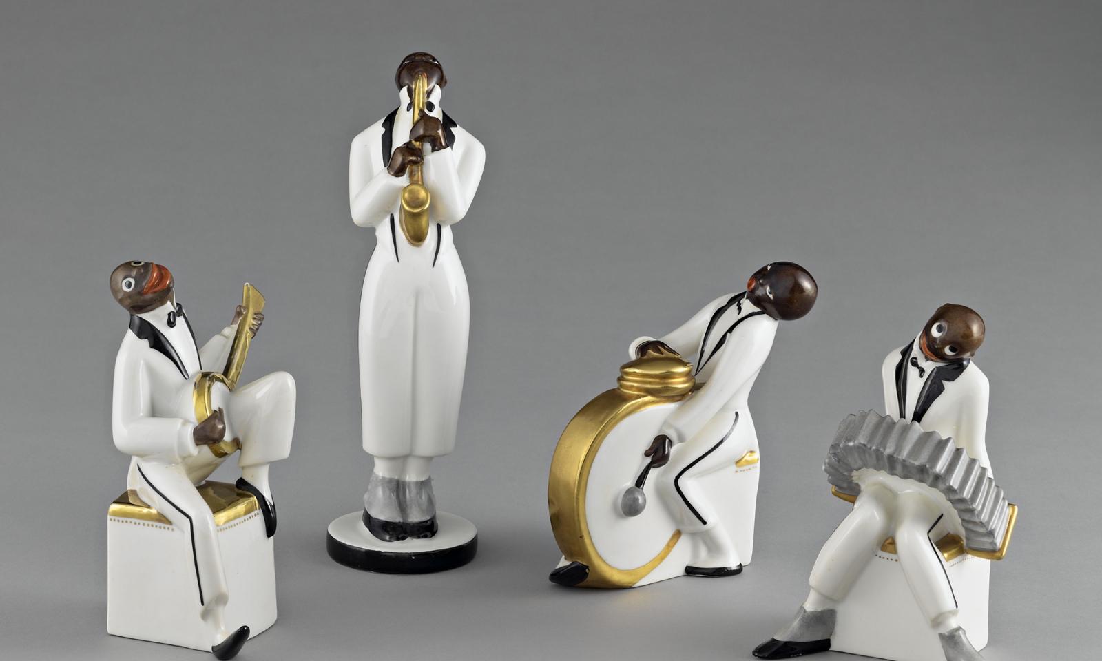 Le jazz, Porcelaine dure, Manufacture Michelaud, Édité pour Robj, édite