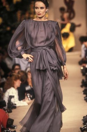 Robe de soir portée par Claire Calladine